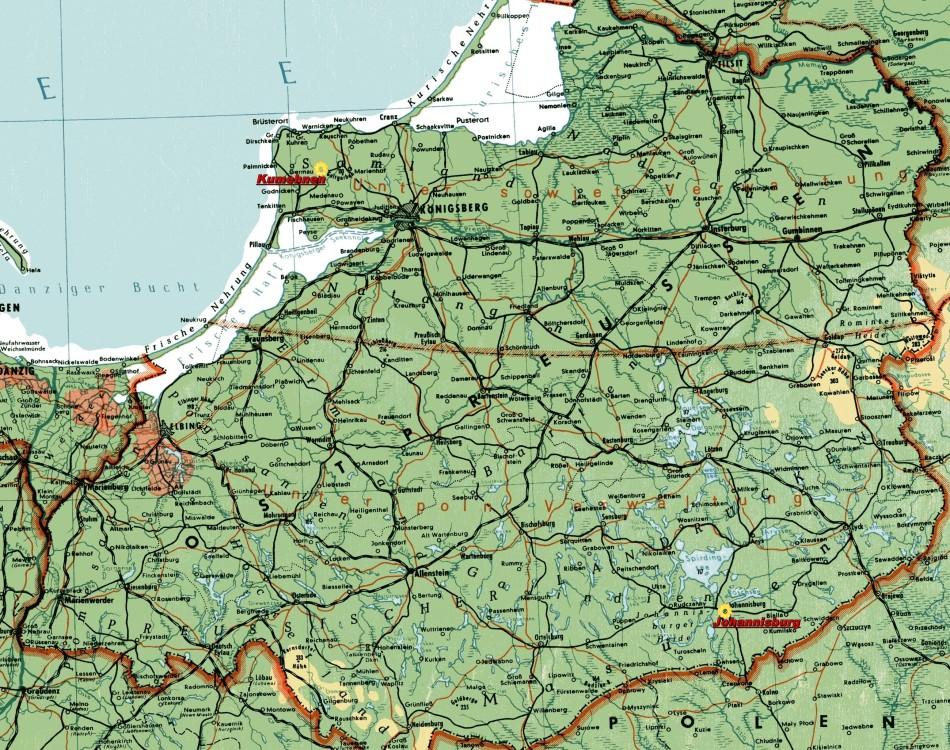 Ostpreußen Landkarte